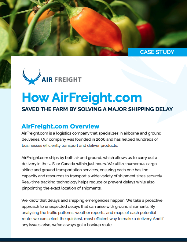 How AirFreight Saved The Darm