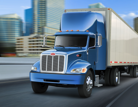 express-trucking-blue-peterbilt